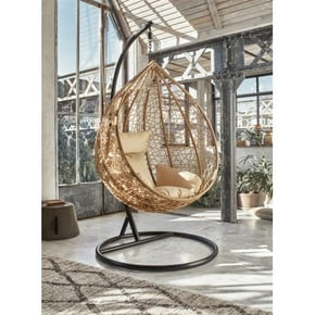 Resin egg hanging armchair...