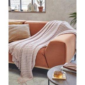 Plaid tricot 130x150 cm - Pink