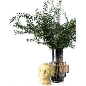 Vase en verre gris et...