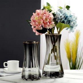 Vase RICA en verre gris...