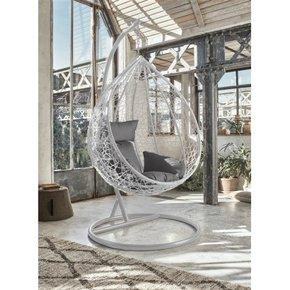 Swinging armchair suspended...