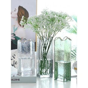 Vase LYAM en verre 9x7xH24 cm