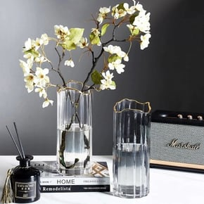 Vase JULIO en verre D10xH24 cm