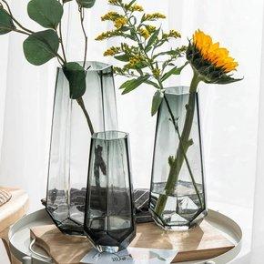 Vase JESTIC en verre gris...