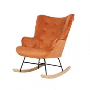 Fluwelen schommelstoel Mama...