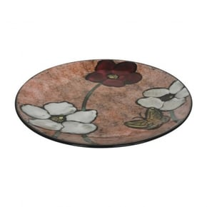 Ceramic plate with flowers...