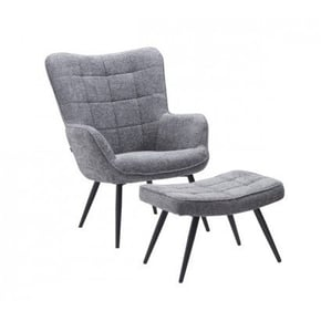 Fabric armchair with...