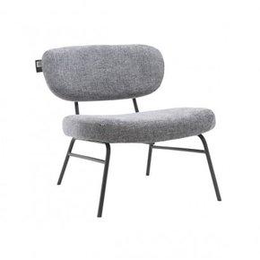 Chaise en tissu chiné avec...