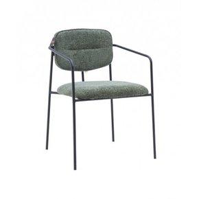 Chaise en tissu chiné...