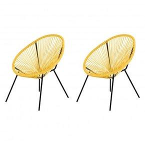 Set of 2 Garden Armchairs...