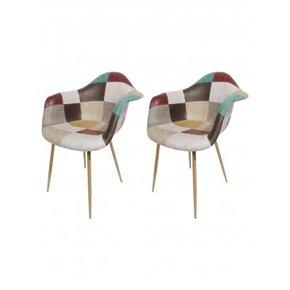 Lot de 2 chaises à...