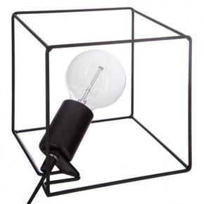 Lampe cube en métal Noir...