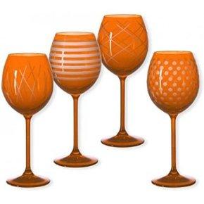 Lot de 4 verres à pieds...