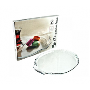 Glass display tray with...