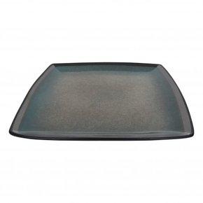 Square ceramic dinner plate...