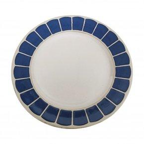 Blauw bedrukt dessertbord...