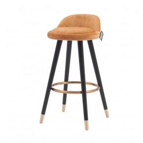 PABLO velvet bar stool H78...