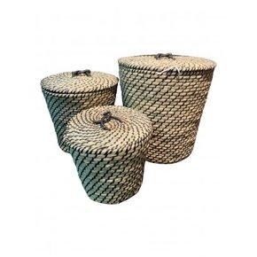 MAYA set of 3 baskets - Black
