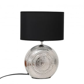 Round table lamp with black...