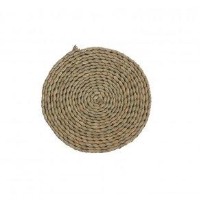 Braided jute trivet D20cm -...