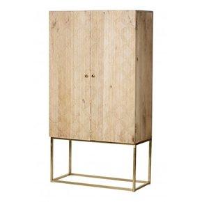 Wooden shelf 2 doors with...