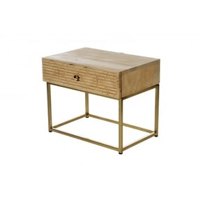Wooden bedside table with...