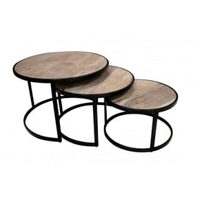 Round coffee table in set...