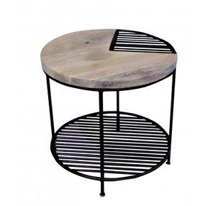 Table d'appoint en bois et...