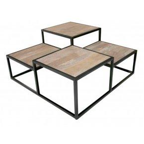 Table basse carrée en métal...