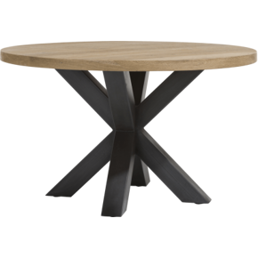 Round dining table in solid...