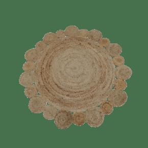Jute rug floral shape -...