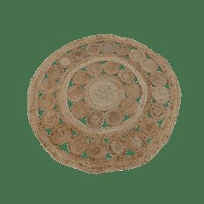 Jute rug in rosette shape -...