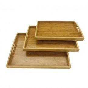 Set of 3 rectangular bamboo...