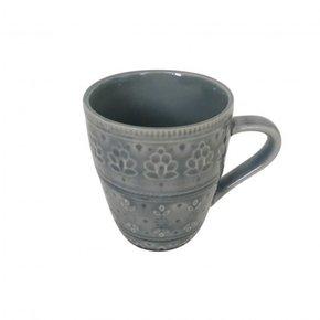 Mug en céramique bleu à...