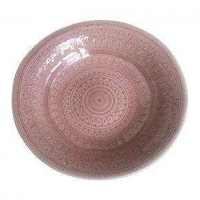 Plat en céramique rose, D30...