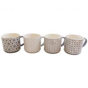 Pack 4 Mugs en céramique à...