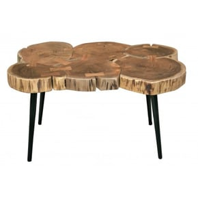 Table basse pieds noirs,...