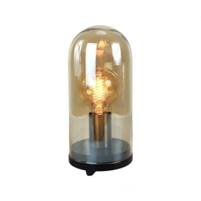 Lampe cloche en verre +...